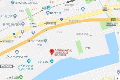 兵庫県立美術館の地図
